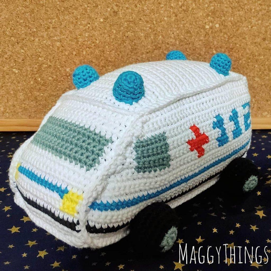 Vehicle Amigurumi Soft Toy Free Crochet Pattern | 1024x1024