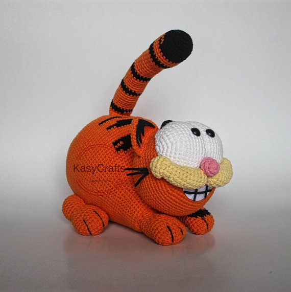 Garfield Amigurumi - Free Crochet Pattern | Crochet cat toys ... | 571x570