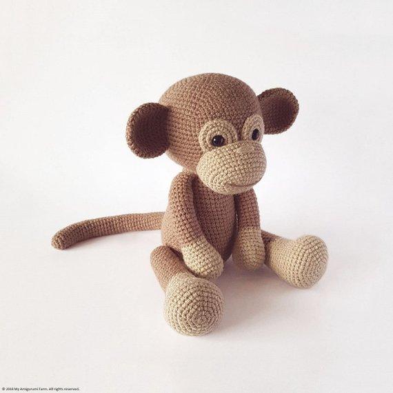 Crochet Monkey Pattern Amigurumi PDF-Monkey Crochet Pattern ...   570x570