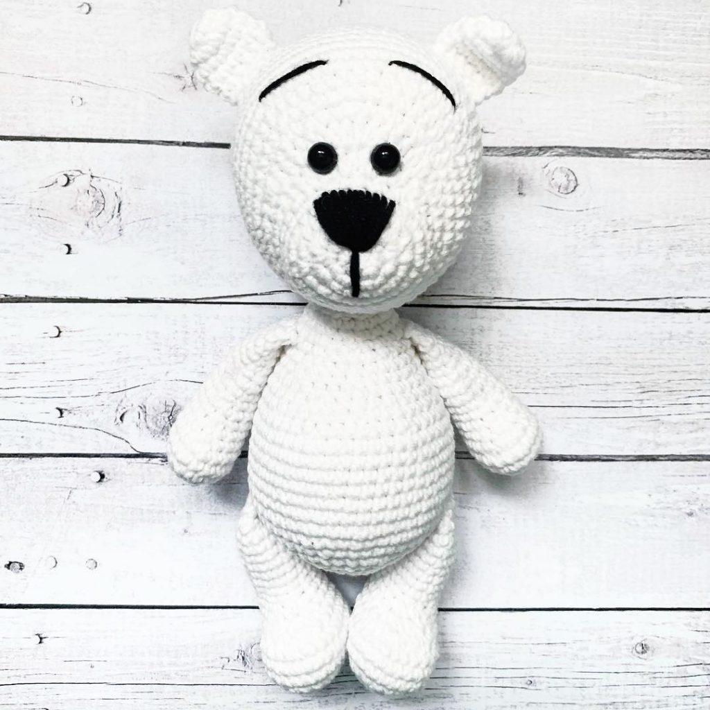 Tiny teddy bear crochet pattern | Amiguroom Toys | 1024x1024